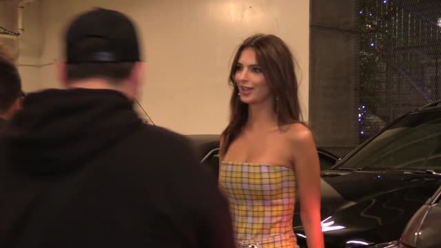 Emily Ratajkowski leaving the Lakers game at Staples Center in Los Angeles in Celebrity Sightings in Los Angeles