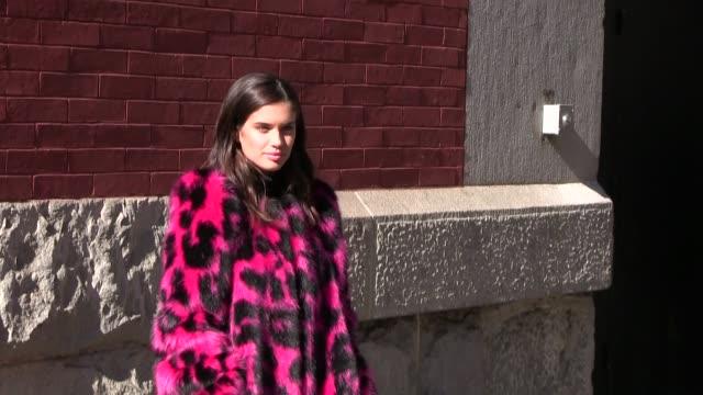 emily ratajkowski sara sampaio amanda peet and lil kim at the marc jacobs ready to wear fall winter 2017 fashion show in new york city new york city... - amanda peet stock videos & royalty-free footage
