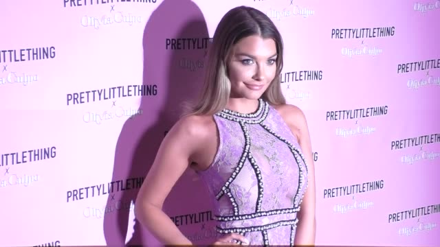 Emily Sears at the PrettyLittleThing X Olivia Culpo Launch Arrivals on August 17 2017 in Los Angeles California