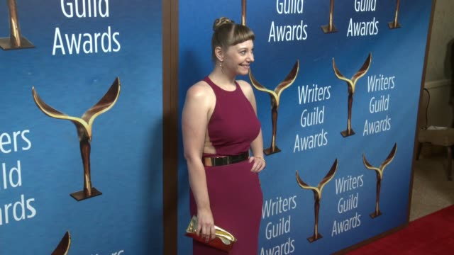 emily v. gordon at the 2018 writers guild awards at the beverly hilton hotel on february 11, 2018 in beverly hills, california. - the beverly hilton hotel stock videos & royalty-free footage