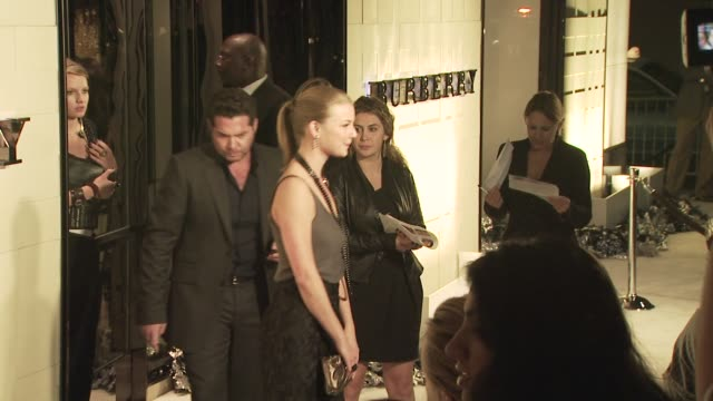 emily vancamp at the burberry beverly hills store re-opening at los angeles ca. - beverly hills点の映像素材/bロール