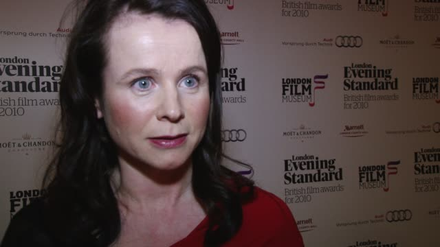 emily watson, evening standard film awards evening standard film awards on february 07, 2011 in london, england - one mature woman only stock videos & royalty-free footage