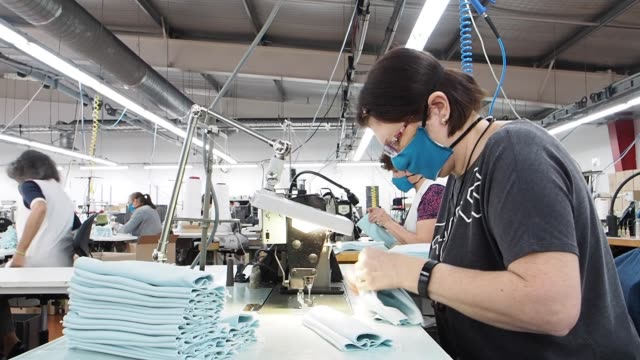 eminence is a french manufacturer of underwear located in the gard where the company was born more than 70 years ago in its production unit in sauve... - manufacturing stock videos & royalty-free footage