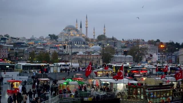 eminonu-distrikt in istanbul, türkei - istanbul stock-videos und b-roll-filmmaterial