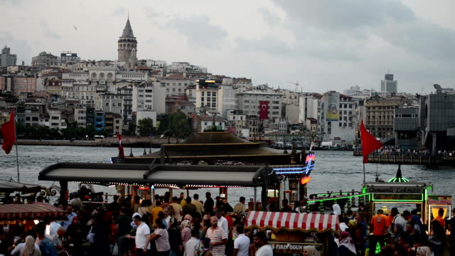 eminonu district in istanbul - eminonu district stock videos and b-roll footage