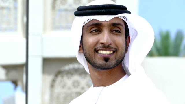 emirati businessman outdoors - middle eastern ethnicity stock videos & royalty-free footage