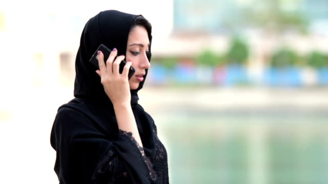 Emirati businesswoman on the phone