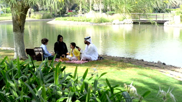 series: emirati family at picnic - collection stock videos & royalty-free footage
