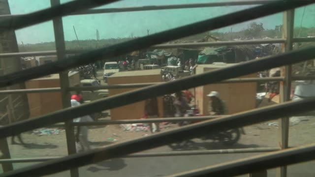 emirati military forces driving through khokha in yemen, inside vehicle - yemen stock videos & royalty-free footage