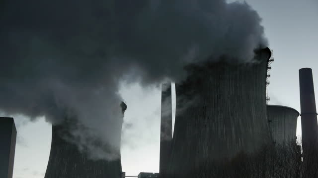 emissions - cooling tower stock videos & royalty-free footage