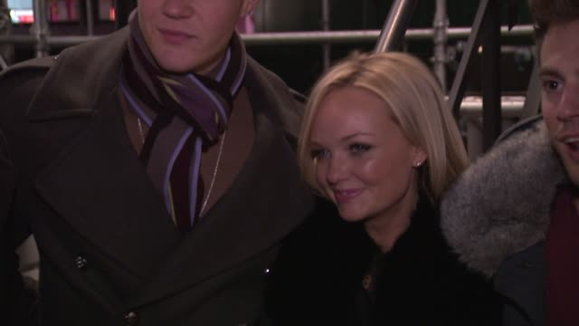 Emma Bunton and Lawson at Oxford Street Christmas Lights Switch on on November 05 2012 in London England