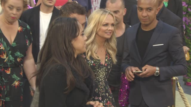 emma bunton at 'absolutely fabulous the movie' uk film premiere at odeon leicester square on june 29 2016 in london england - absolutely fabulous stock videos and b-roll footage