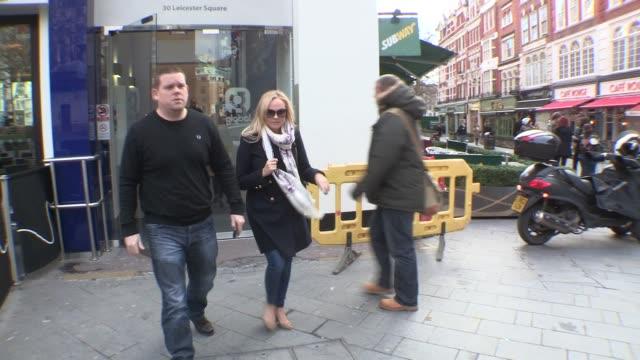 Emma Bunton Celebrity Video Sightings on February 06 2013 in London England