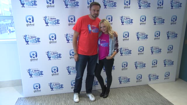 emma bunton, jamie theakston at capital fm: make some noise at global radio studios on october 09, 2014 in london, england. - jamie theakston stock videos & royalty-free footage