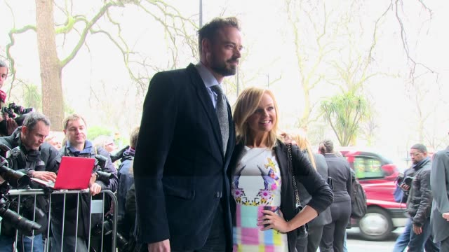 emma bunton & jamie theakston at the tric awards 2014 at the grosvenor house hotel, london on march 11, 2014 - jamie theakston stock videos & royalty-free footage