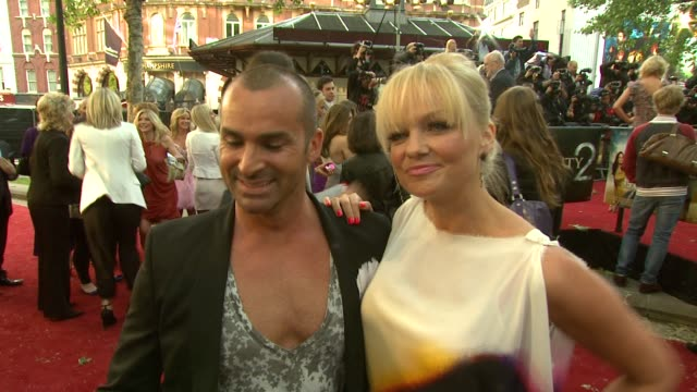 Emma Bunton Louis Spence on which characters they're most like at the 'Sex And The City 2' LondonUK Premiere at London England