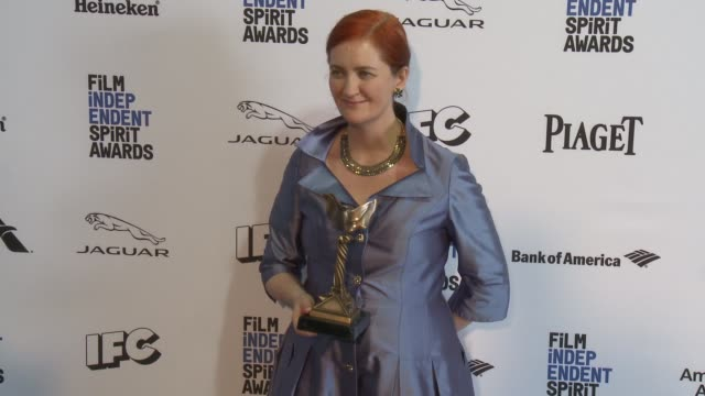 emma donoghue at 2016 film independent spirit awards press room on february 27 2016 in santa monica california - emma donoghue stock videos and b-roll footage