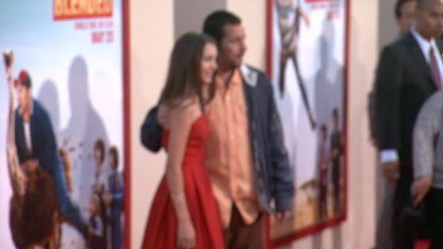 """emma fuhrmann and adam sandler at the """"blended"""" los angeles premiere at tcl chinese theatre on may 21, 2014 in hollywood, california. - tcl chinese theatre stock videos & royalty-free footage"""