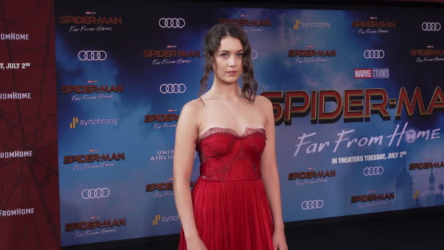 emma fuhrmann at the world premiere of spiderman far from home on june 26 2019 in hollywood california - red carpet event stock videos & royalty-free footage