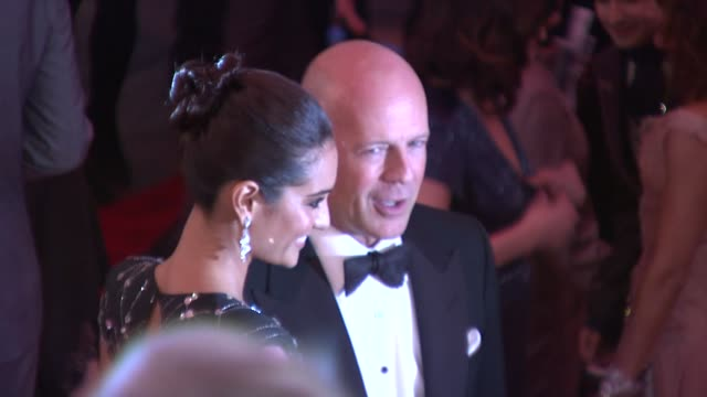 emma heming and bruce willis at the 'the model as muse embodying fashion' costume institute gala at the metropolitan museum of art arrivals at new... - bruce willis stock videos and b-roll footage
