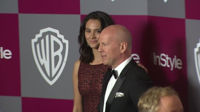 emma heming bruce willis at the 2011 instyle/warner brothers golden globe awards party at beverly hills ca - bruce willis stock videos and b-roll footage
