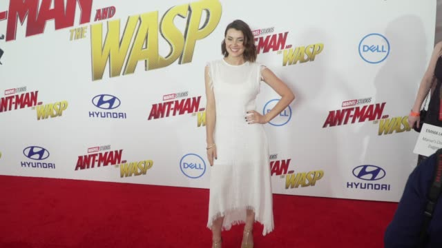 Emma Lahana at the 'AntMan and the Wasp' World Premiere at the El Capitan Theatre on June 25 2018 in Hollywood California