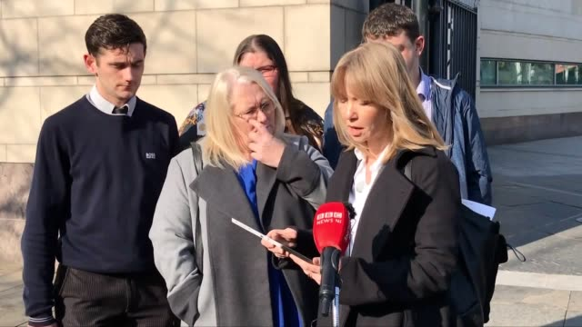 emma norton, head of legal casework for liberty reads a statement on behalf of the families of lance corporal james ross and rifleman darren mitchell... - ulster province stock videos & royalty-free footage