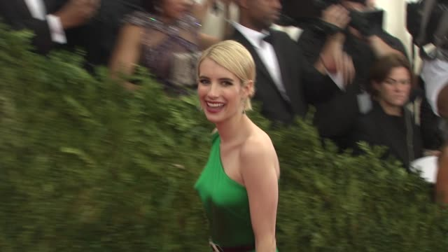 Emma Roberts at China Through The Looking Glass Costume Institute Benefit Gala Arrivals at Metropolitan Museum of Art on May 04 2015 in New York City