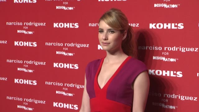 emma roberts at kohl's celebrates the launch of narciso rodriguez for designation with exclusive collection premiere at iac headquarters on october... - exklusiv stock-videos und b-roll-filmmaterial