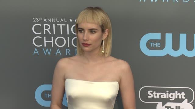 Emma Roberts at the 23rd Annual Critics' Choice Awards at Barker Hangar on January 11 2018 in Santa Monica California