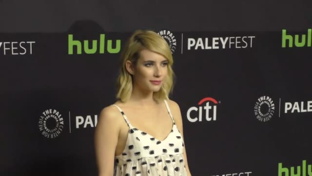 Emma Roberts at The Paley Center for Media 'Scream Queens' presentation at PaleyFest LA at the Dolby Theatre in Hollywood at Celebrity Sightings in...