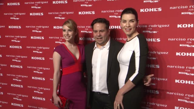 emma roberts, narciso rodriguez and julianna margulies at kohl's celebrates the launch of narciso rodriguez for designation with exclusive collection... - exklusiv stock-videos und b-roll-filmmaterial
