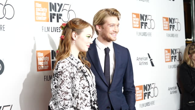 Emma Stone and Joe Alwyn at The Favourite New York Premiere NYFF56 Opening Night Gala Presentation Presented By Fox Searchlight at Alice Tully Hall...