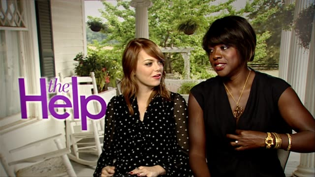 Emma Stone and Viola Davis on Prince Harry being cute a rough neck at the The Help Interviews at London England
