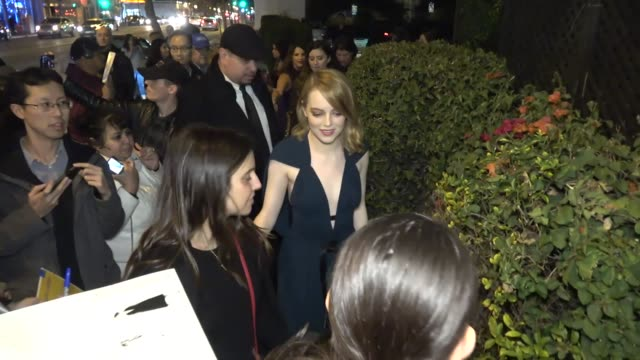 Emma Stone arrives at Marie Claire's Image Maker Awards 2018 at Delilah's in West Hollywood in Celebrity Sightings in Los Angeles