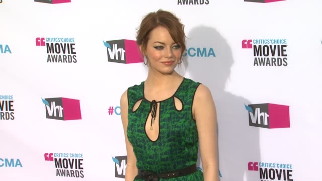 Emma Stone at 17th Annual Critics' Choice Movie Awards on 1/12/12 in Hollywood CA