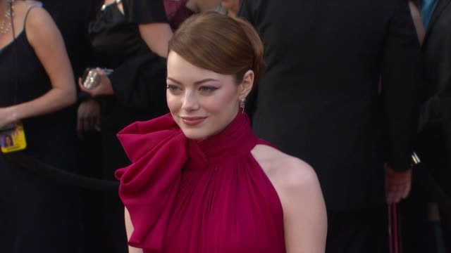 emma stone at 84th annual academy awards arrivals on 2/26/12 in hollywood ca - academy of motion picture arts and sciences stock videos and b-roll footage