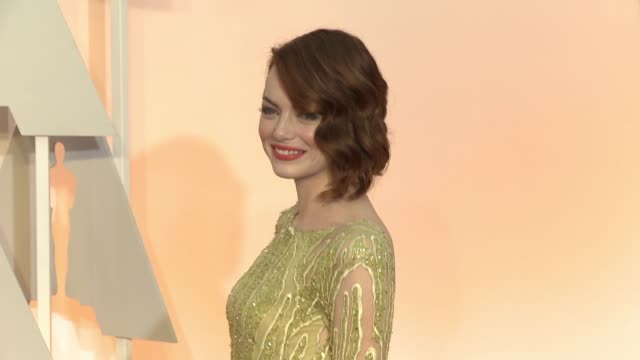 Emma Stone at 87th Annual Academy Awards Arrivals at Dolby Theatre on February 22 2015 in Hollywood California