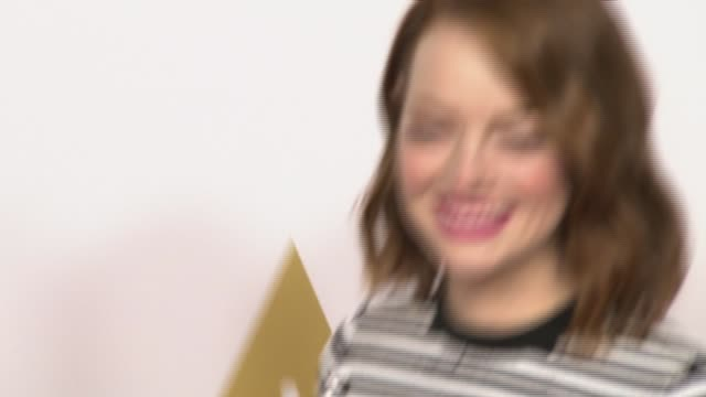 emma stone at 87th annual academy awards nominee luncheon - reception at the beverly hilton hotel on february 02, 2015 in beverly hills, california. - the beverly hilton hotel stock videos & royalty-free footage