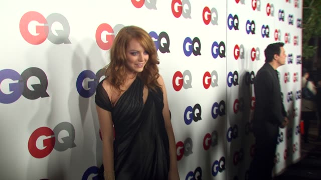 Emma Stone at the GQ Magazine's 2009 'Men Of The Year' Party at Los Angeles CA