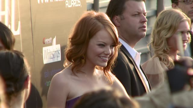 Emma Stone at the Hollywood Life Magazine's 10th Annual Young Hollywood Awards at the Avalon in Hollywood California on April 27 2008