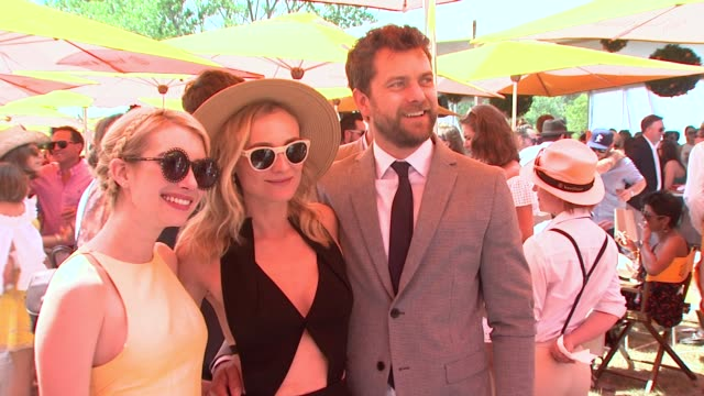 emma stone diane kruger joshua jackson at veuve clicquot polo classic 2015 at liberty state park on may 30 2015 in jersey city new jersey - jackson new jersey stock videos and b-roll footage