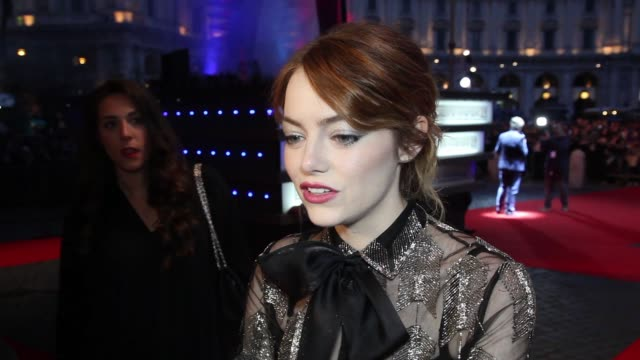 INTERVIEW Emma Stone on her character at 'The Amazing SpiderMan 2 Rise Of Electro' Rome Premiere at The Space Cinema Moderno on April 14 2014 in Rome...