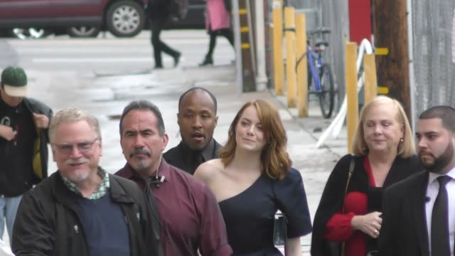 Emma Stone outside Jimmy Kimmel Live in Hollywood in Celebrity Sightings in Los Angeles