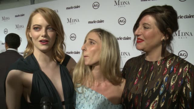 INTERVIEW Emma Stone Rachel Goodwin and Mara Roszak on what it means to be recognized by Marie Claire Emma talks about her relationship with Mara...