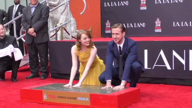 Emma Stone Ryan Gosling Hand And Footprint Ceremony at TCL Chinese Theatre in Hollywood in Celebrity Sightings in Los Angeles