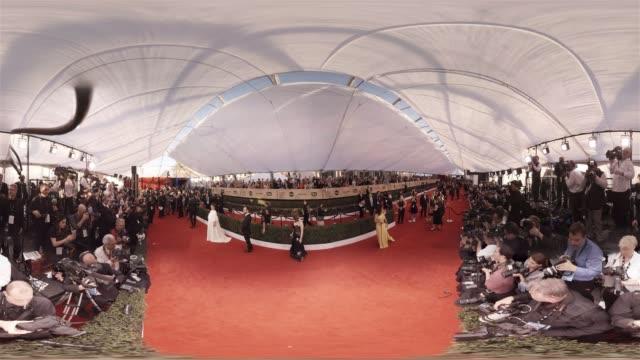 Emma Stone Salma Hayek at the 23rd Annual Screen Actors Guild Awards _ Arrivals 360