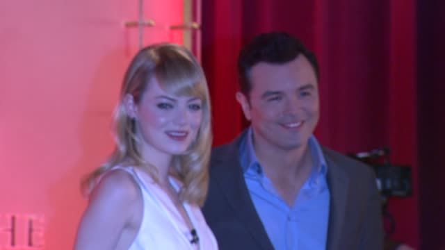 emma stone seth macfarlane at the 85th academy awards nominations announcement in beverly hills 01/10/13 emma stone seth macfarlane at the 85th... - samuel goldwyn theater stock videos & royalty-free footage