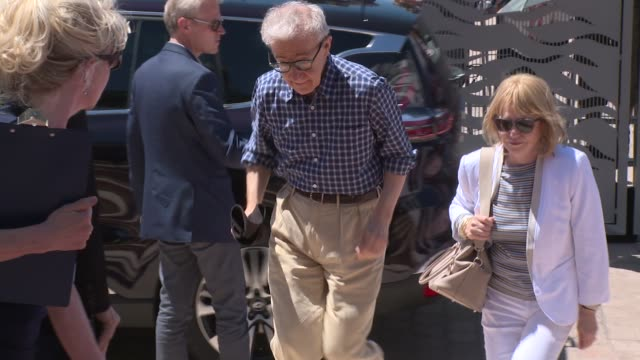 broll emma stone woody allen parker posey at celebrity sightings in cannes on 15th may 2015 in london england - woody allen stock videos & royalty-free footage