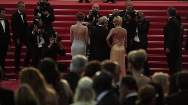 emma stone, woody allen, parker posey at 'irrational man' red carpet at palais des festivals on may 15, 2015 in cannes, france. - parker posey stock videos & royalty-free footage